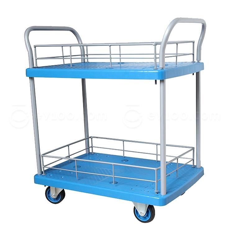 森凡 双层双扶手手推车 150kg 带护栏  SF-12358