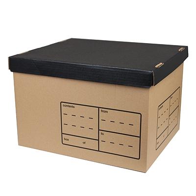 东迅 瓦楞纸制保管盒 345*410*265mm 10个/箱  DX-SB601