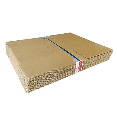 易优百 瓦楞纸板箱 量贩 10个/套  中号 432*310*244mm
