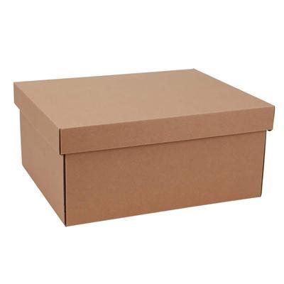 东迅 瓦楞纸制保管盒 19L 2个/包  DX-FB600M