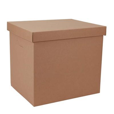 东迅 瓦楞纸制保管盒 27L 2个/包  DX-FB600L