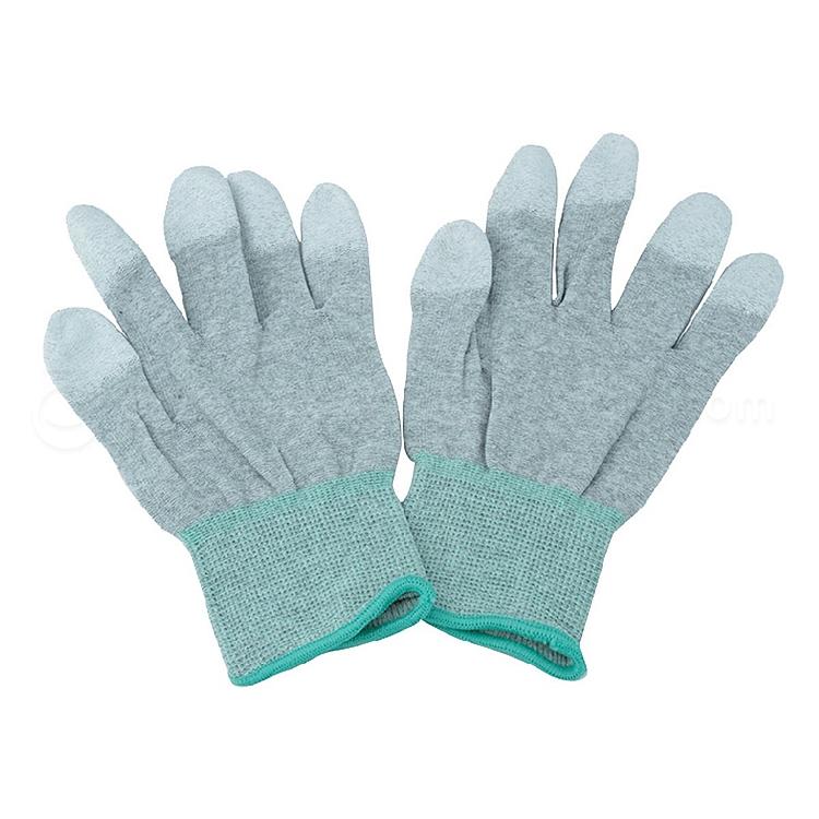 律安 防静电碳纤维涂指手套 M 10双/包