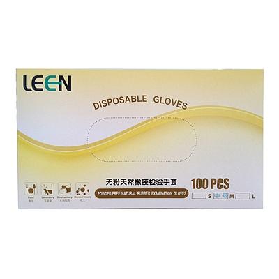 律安 一次性无粉乳胶手套 M 100只/盒