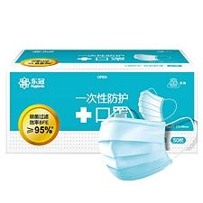 東冠 一次性三層防護口罩(潔云系列) (藍) 50只/盒  Q108001