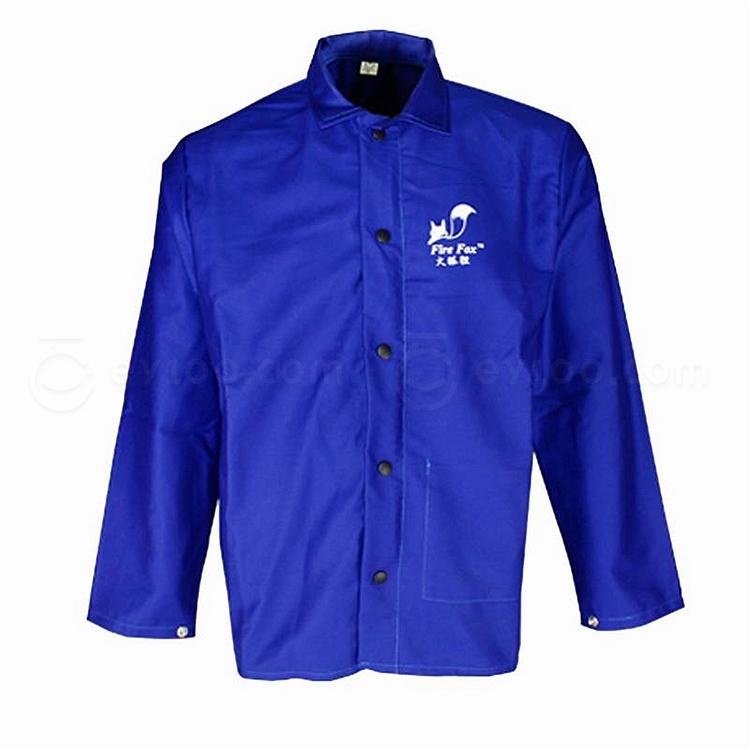 威特仕 狐狸防火阻燃焊接服 (蓝) L  33-6830