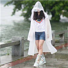 燕王 连体雨衣 (白) XL  8808