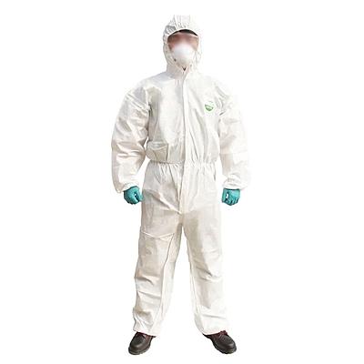 雷克兰 麦克斯带帽连体防护服 (白) S  AMN428E