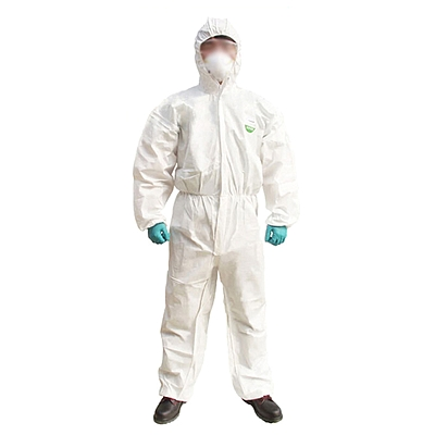 雷克兰 麦克斯带帽连体防护服 (白) L  AMN428E