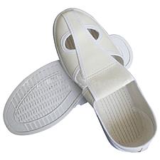 国产 防静电革面四孔工作鞋 (白) 40码