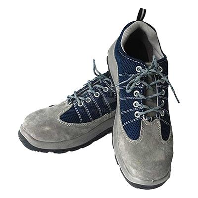 代尔塔 进口毛面牛皮安全鞋 (灰蓝) 39码  301322