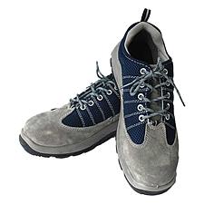 代尔塔 进口毛面牛皮安全鞋 (灰蓝) 41码  301322