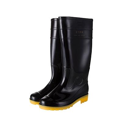 强鹰 中筒耐酸碱雨鞋 (黑) 45
