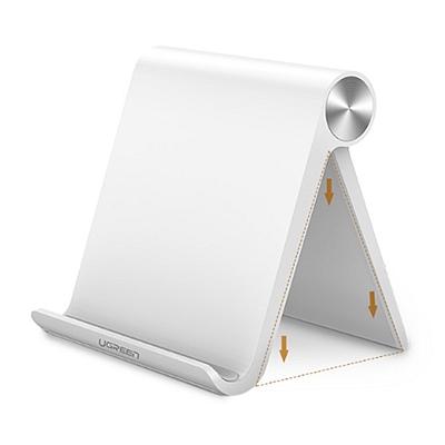 绿联 桌面平板支架 平板电脑iPad懒人手机架 (白色) 12英寸以内  30485