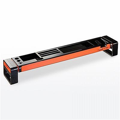 山业 SANWA创意桌上置物架桌面收纳整理架 (黑) USB集线器+读卡器  100-MR056BK
