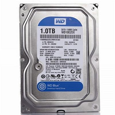 西部数据 蓝盘 台式机硬盘 1TB SATA6Gb/s 7200转64M  WD10EZEX
