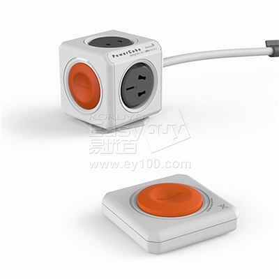 阿乐乐可 PowerCube魔方插座 (橙) 无线遥控版  1566 4孔位