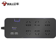 公牛 6位总控+USB智能抗电涌抗浪涌插座 3米  GN-H306U