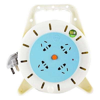 公牛 4位工程卷线盘超功率保护过热保护电接线盘 10米  GN-802