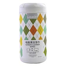 路尔新 电脑屏幕清洁湿巾 (彩色) 100抽  W-03