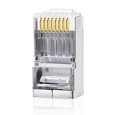 创乘 工程级镀金超五类双屏蔽水晶头 (银) 100个/包  CC202