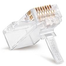 包尔星克 Cat.6类网络水晶头 (透明) 20/盒  PRC6T-20