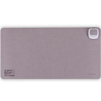 得力 桌面发热垫 办公皮面鼠标垫 (灰)  3689