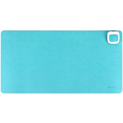 得力 桌面发热垫 办公皮面鼠标垫 (湖蓝)  3689