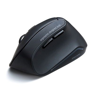 山业 蓝光LED人体工学无线鼠标 (黑色)  GMAERGW10