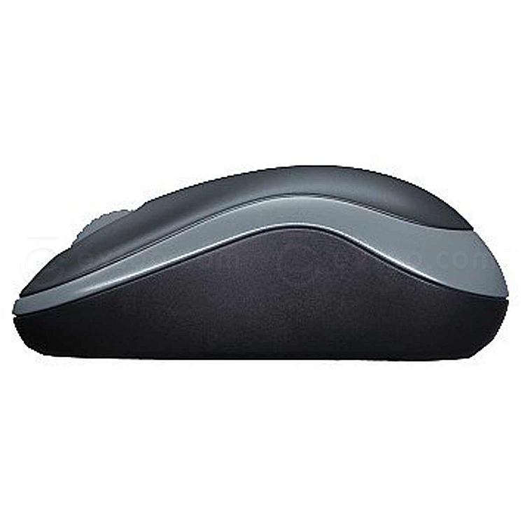 罗技 无线鼠标 (黑色灰边) m186