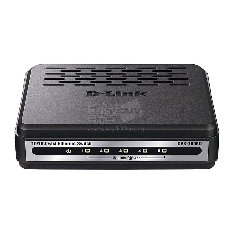 友讯 D-LINK百兆以太网交换机 5口/桌面式  DES-1005D