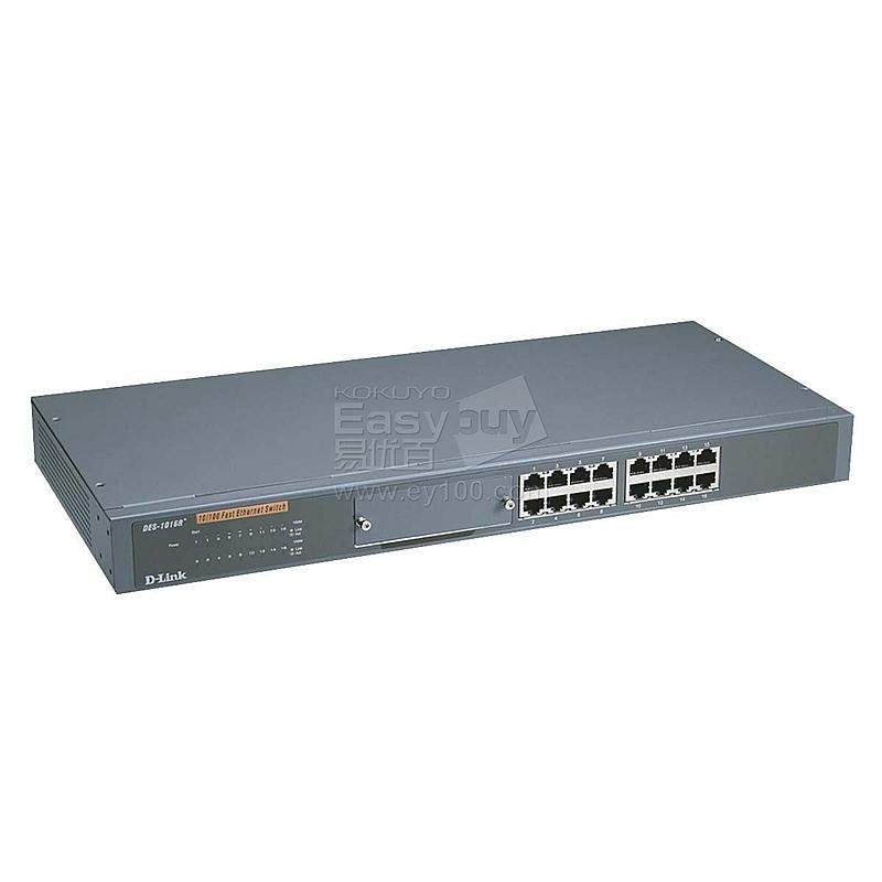 友讯 D-LINK百兆以太网交换机 16口/机架式  DES-1016R