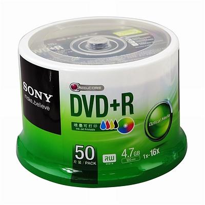 索尼 DVD+R光盘/刻录盘 50片/筒 可打印  16速4.7G