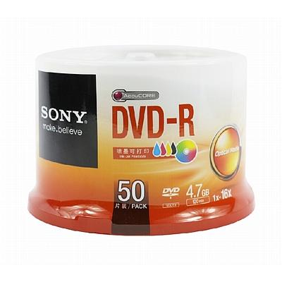 索尼 DVD-R光盘/刻录盘 50片/筒 可打印  16速4.7G