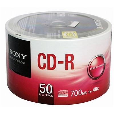 索尼 CD-R光盘/刻录盘 50片/筒 环保装  48速700MB