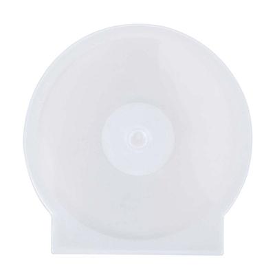 国产 塑料透明光盘保护盒 (透明) 可装1片  直径120mm