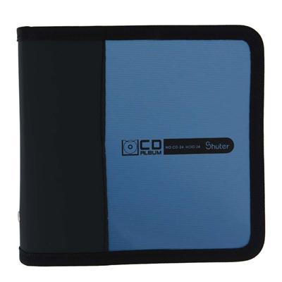 树德 CD光盘包 (银蓝) 24片装  CD-24
