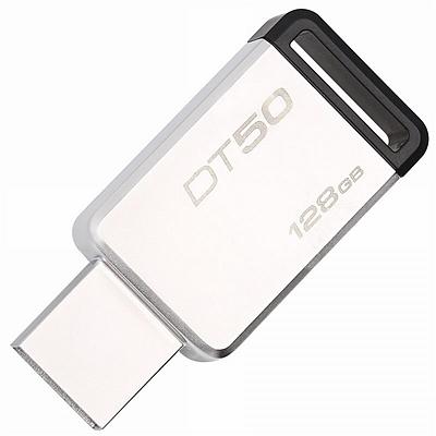 金士顿 USB3.1金属U盘 (黑色) 128GB  DT50