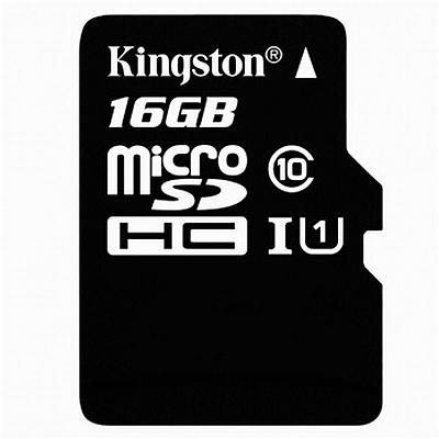 金士顿 UHS-I TF(MicroSD)高速存储卡 16G(Class10)  读速80MB/s