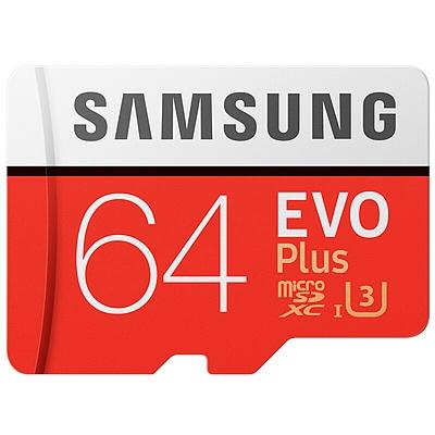 三星 高速MicroSD(TF)存储卡 (红色) 64G(Class10)  读速100Mb/s