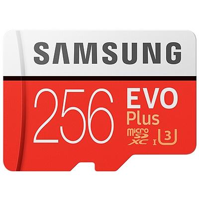三星 高速MicroSD(TF)存储卡 (红色) 256G(Class10)  读速100Mb/s