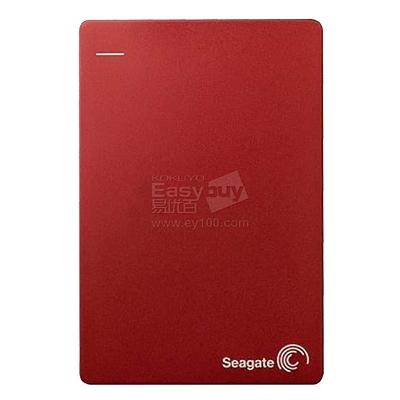 希捷 Backup Plus睿品(升级版)2.5英寸 USB3.0移动硬盘 (红) 1TB  STDR1000303