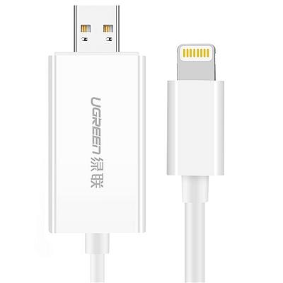 绿联 苹果手机/电脑二合一读卡器 (白色) MFi认证  30612