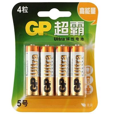 超霸 5号高能量碱性电池 5号 4节/组  GP15A-L4