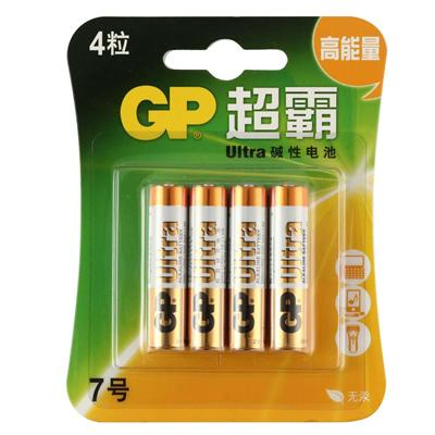 超霸 7号碱性电池 7号 4节/组  GP24A-L4
