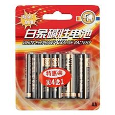 白象 5號堿性電池(簡裝) 5號 5節/組  LR6 AA/1.5V