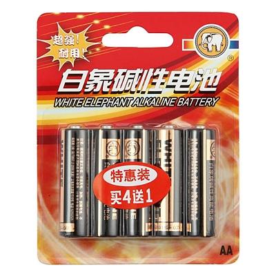 白象 5号碱性电池(简装) 5号 5节/组  LR6 AA/1.5V