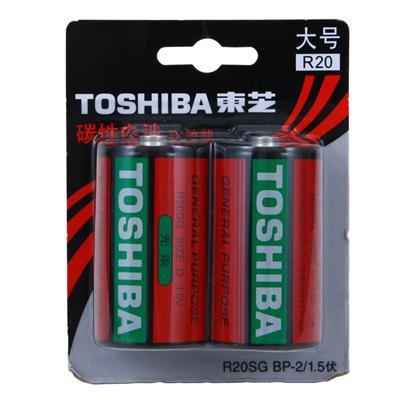 东芝 1号碳性电池 1号  R20SG BP-2