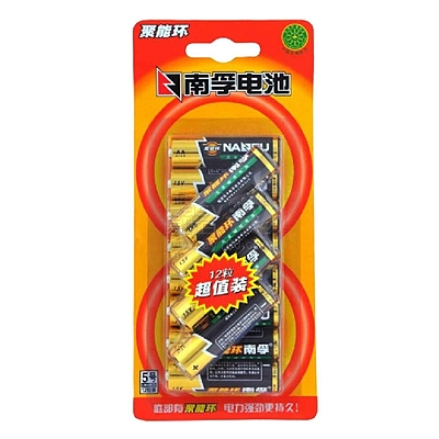 南孚 聚能环无汞碱性电池 12节装  5号