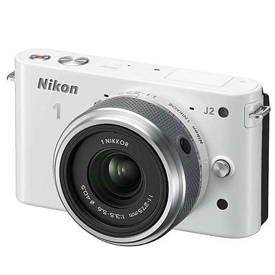 尼康 可换镜数码套机 (白) (11-27.5mm f/3.5-5.6)  J2