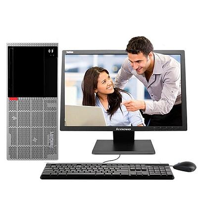 联想 ThinkCentre商用办公台式电脑整机 (G5400 4G 1T Win10H 19.5英寸显示器)  E96